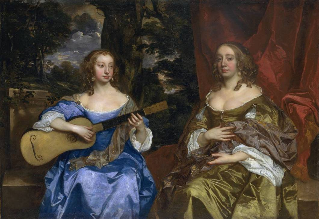 Two Ladies of the Lake Family circa 1660 by Sir Peter Lely 1618-1680