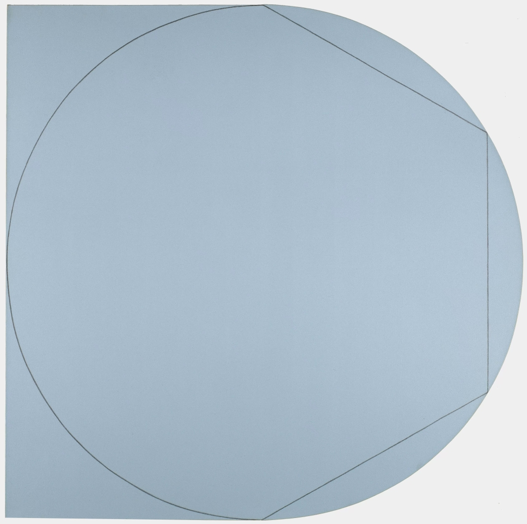 Robert Mangold Circle In and Out of a Polygon 2