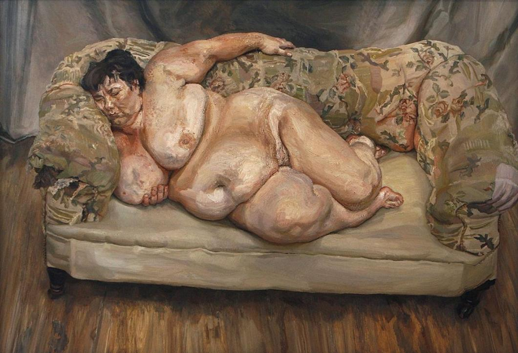 Lucian Freud . Benefits Supervisor Sleeping . 1995