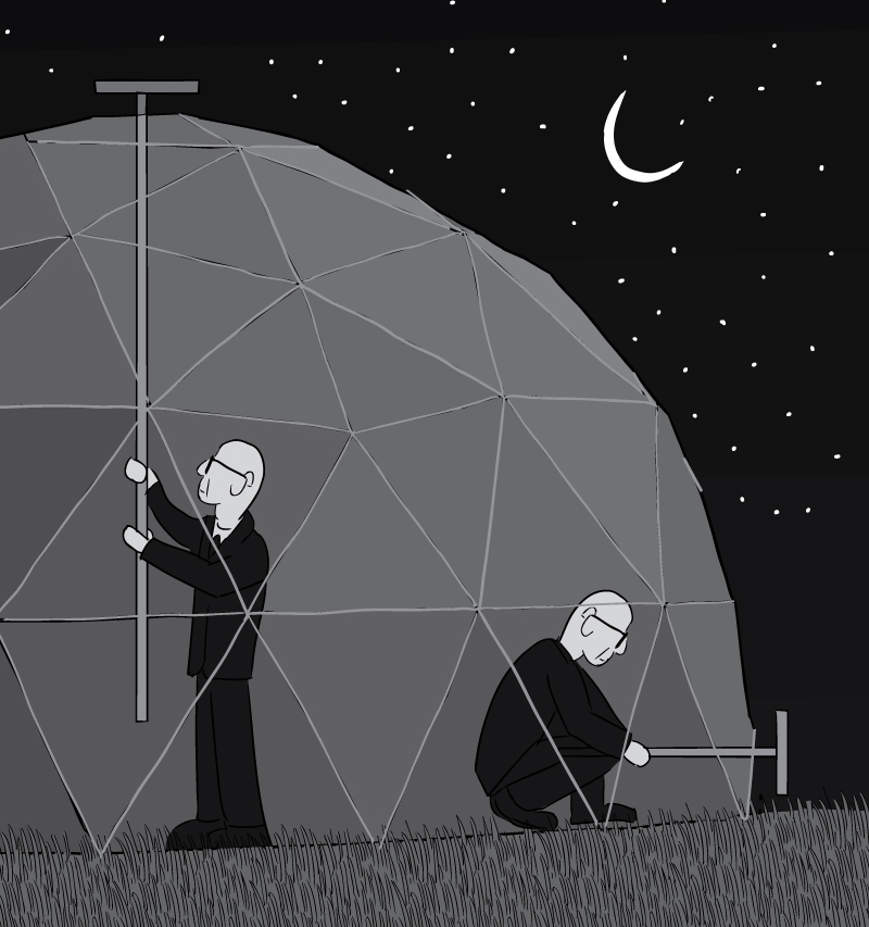 Geodesical Dome Buckminster : Stuart McMIllen